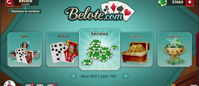 Bienvenue sur la nouvelle version Facebook de Belote.com !