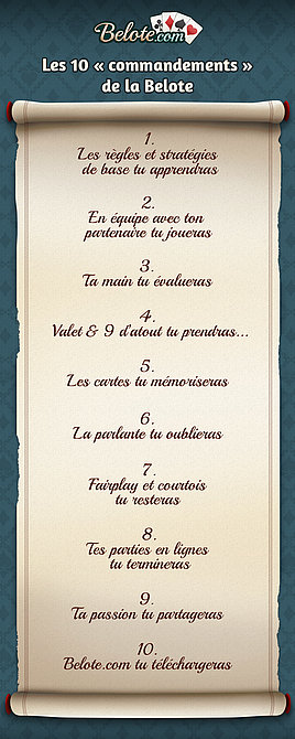 Les 10 commandements de la Belote